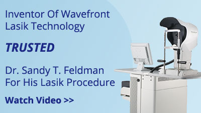 Dr. Feldman performed LASIK on Wavefront creator Dr. Billie.